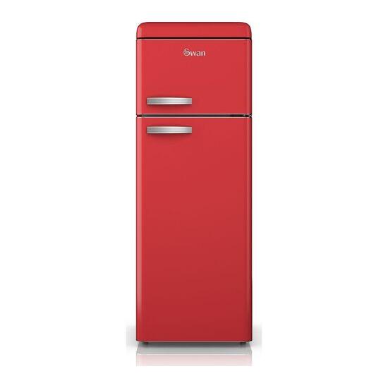 Swan SR11010RN Fridge Freezer - Red