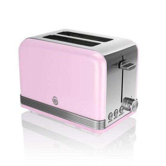 SWAN ST19010PN 2-Slice Toaster - Pink