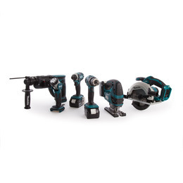 Makita DLX6068PT 18V 6 Piece Cordless Kit (3 x 5.0Ah Batteries) + Twin Charger Reviews
