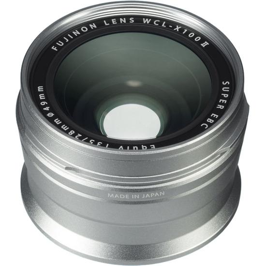 Fujifilm WCL-X100 II Wide Conversion Lens - Silver