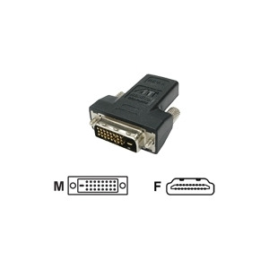 Photo of HIS - Video Adapter - HDMI / DVI - DVI-D (m) - 19 Pin HDMI (F) Adaptors and Cable