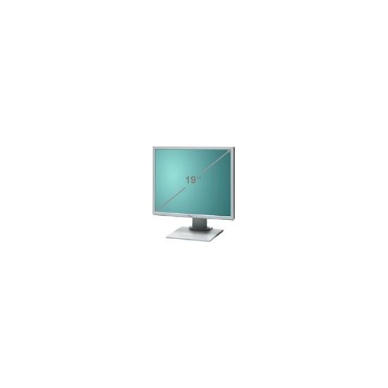 "Fujitsu Siemens SCENICVIEW A19-3A - Flat panel display - TFT - 19"" - 1280 x 1024 - 300 cd/m2 - 800:1 - 5 ms - 0.294 mm - DVI-D, VGA - speakers - light grey"