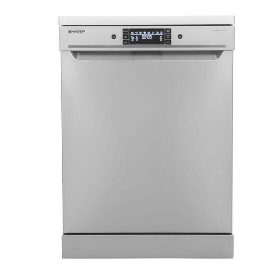 Siemens se26n850g fullsize dishwasher stainless steel and silver