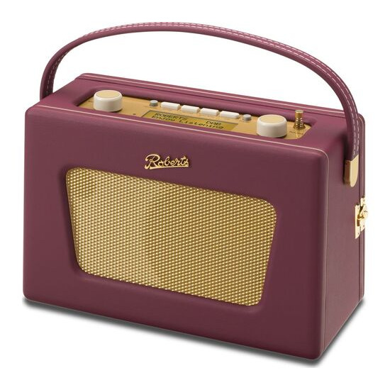 ROBERTS  Sovereign Portable DAB+/FM Clock Radio - Burgundy