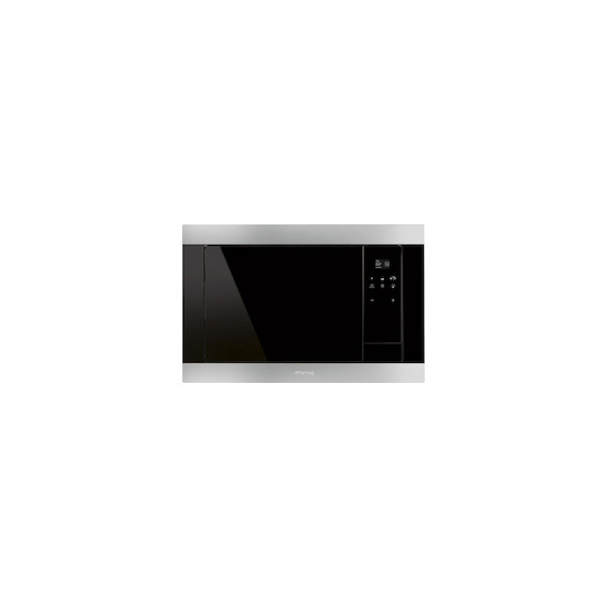 SMEG FMI320X Stainless steel Built in classic 600mm microwave oven with grill