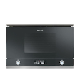 SMEG MP122N Black Built in classic 600mm microwave oven with grill Reviews