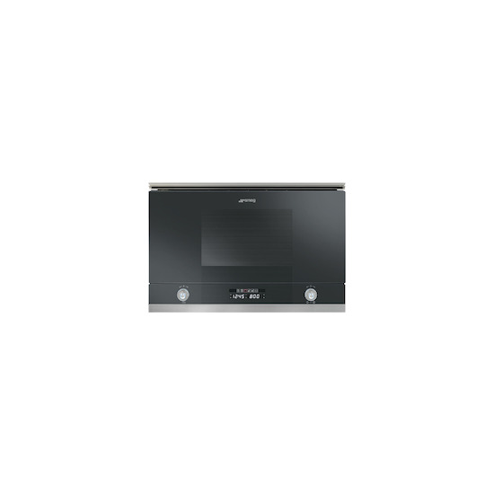 SMEG MP122N Black Built in classic 600mm microwave oven with grill