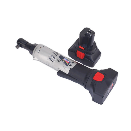 Sealey CP6002 Cordless Ratchet Wrench 14.4v 2ah Lithium-ion 3/8sq Drive 68nm 4-pole Motor - 2 Batteries 40min Charger
