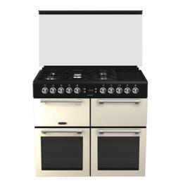 Leisure Chefmaster CC100F521C 100 cm Dual Fuel Range Cooker - Cream & Black Reviews