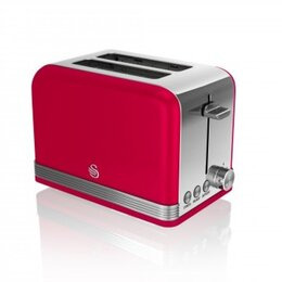 SWAN ST19010RN 2-Slice Toaster - Red