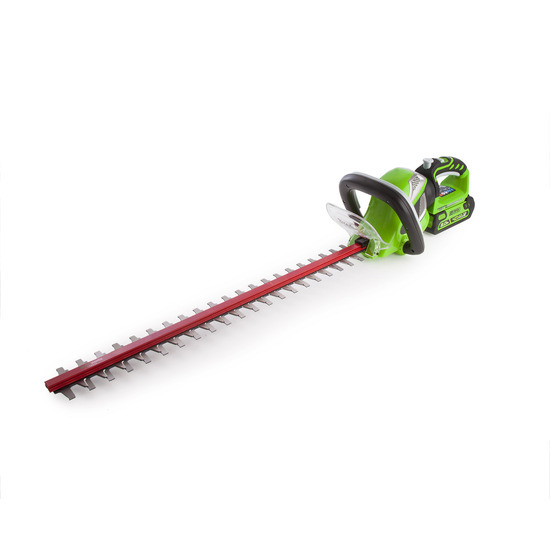 Greenworks G40HT61K2 40V Hedge Trimmer with 2Ah Battery, Fast Charger