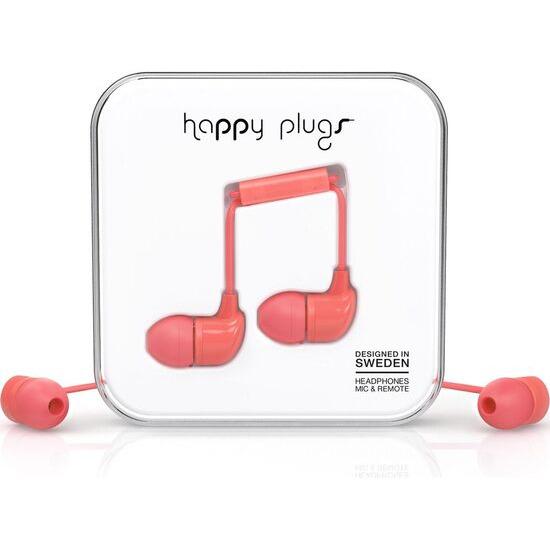 Happy Plugs HP7714 Headphones - Coral