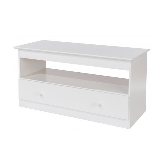 Core Products Aspen AS910 White TV Stand with Drawer