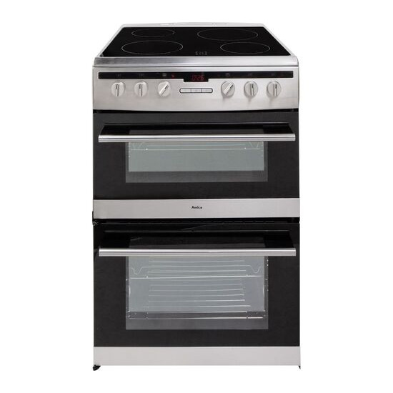 AMICA 608DCE2T Electric Ceramic Cooker Stainless Steel