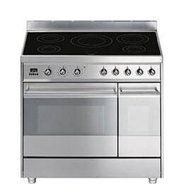 SMEG Symphony 90 cm Electric Induction Range Cooker Stainless Steel Reviews