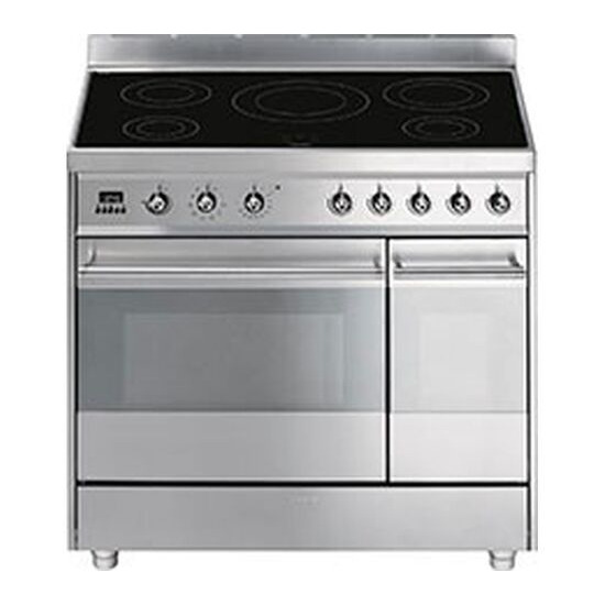 SMEG Symphony 90 cm Electric Induction Range Cooker Stainless Steel