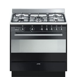 Smeg Concert 90 cm Dual Fuel Range Cooker - Black Reviews