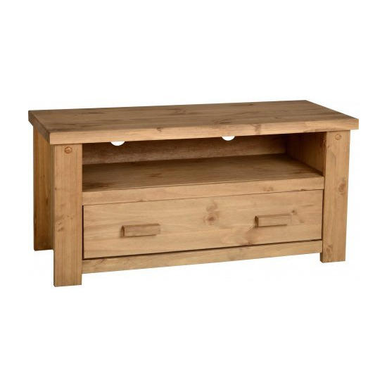 TNW Leon 1 Drawer Pine TV Stand