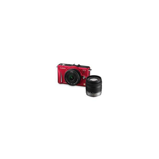 Panasonic DMC-GF2 with 14mm and 14-42mm lenses