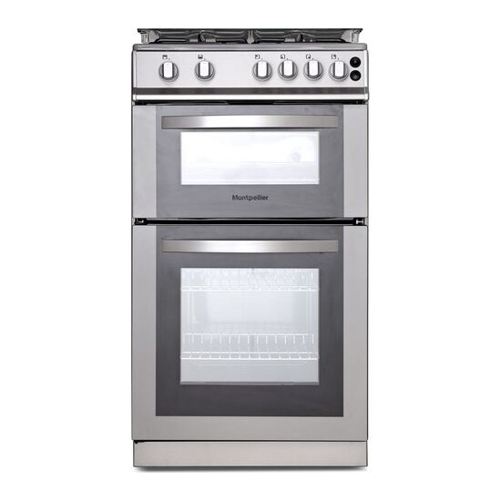 MONTPELLIER MDG500LS 50 cm Gas Cooker - Silver