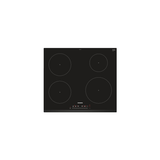 Siemens EU631FEB1E iQ100 touchSlider 59cm Four Zone Induction Hob Black With Current Management - Can Be used With 13 Amp Fuse