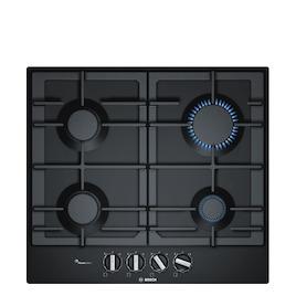 Bosch PCP6A6B90 Black glass 4 burner gas hob Reviews