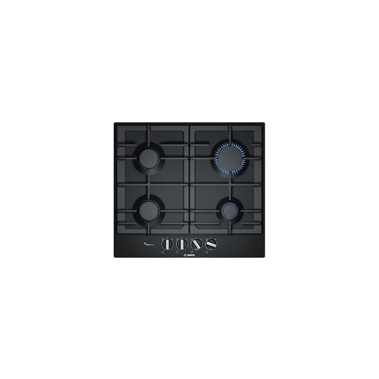 Bosch PCP6A6B90 Black glass 4 burner gas hob