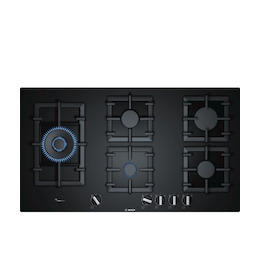 Bosch PPS9A6B90 Black glass 5 burner gas hob Reviews