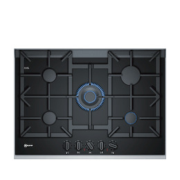 Neff T27TA69N0 Black glass and steel 5 burner gas hob Reviews