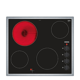 Siemens ET645CEA1E Black glass and steel 4 zone ceramic hob Reviews