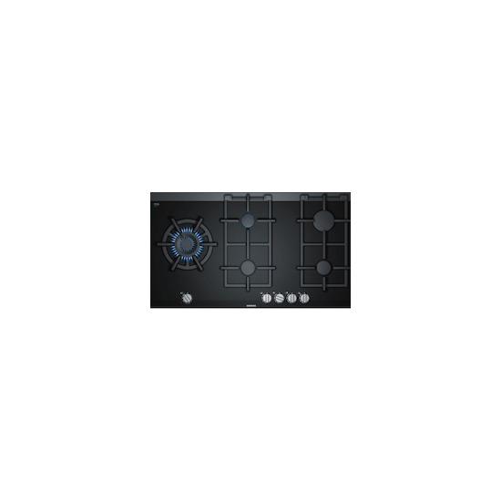 Siemens ER9A6SD70 Black glass 5 burner gas hob