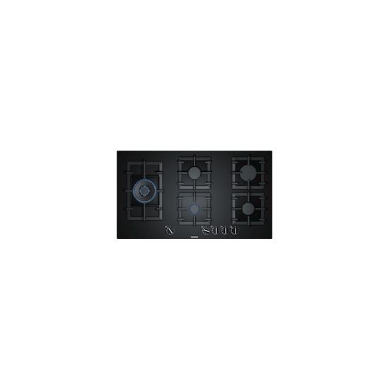 Siemens EP9A6SB90 Black glass 5 burner gas hob