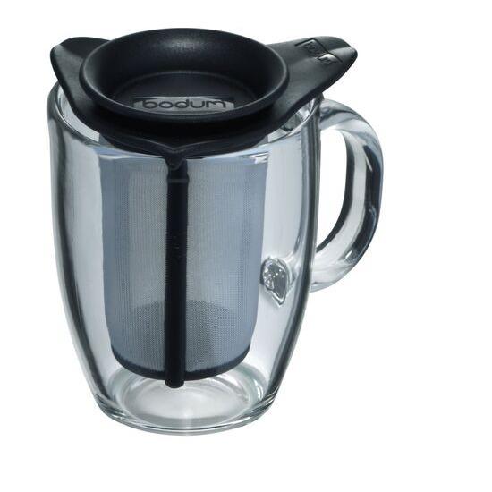 BODUM Yo Yo Mug & Tea Strainer Set - Black