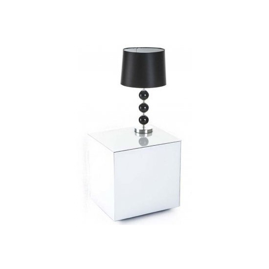 Frank Olsen INTELLAMP-WHT High Gloss White Lamp Table with Wireless Phone Charging
