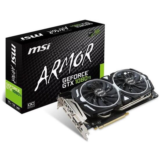 MSI GeForce GTX 1080 Ti ARMOR OC 11GB GDDR5X VR Ready Graphics Card