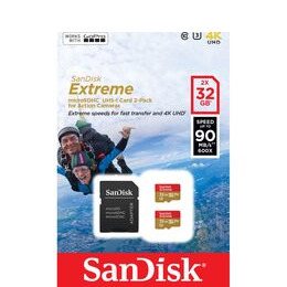 SANDISK Extreme Class 10 microSD Memory Card - 32 GB, Twin Pack Reviews