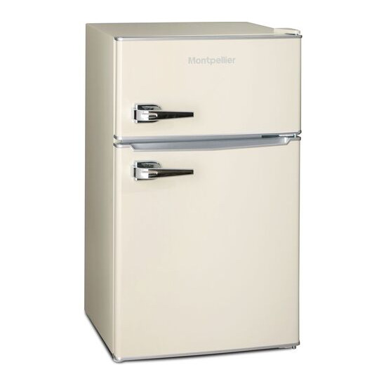 MONTPELLIER MAB2030C Undercounter Fridge Freezer - Cream