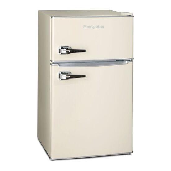 MONTPELLIER MAB2030C Undercounter Fridge Freezer - Cream
