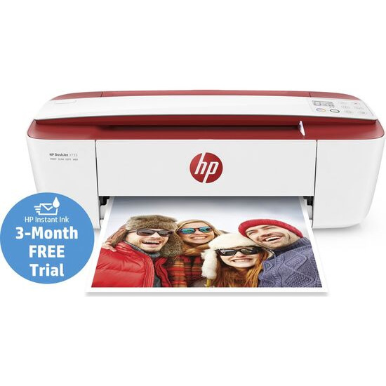HP DeskJet 3733 All-in-One Wireless Inkjet Printer