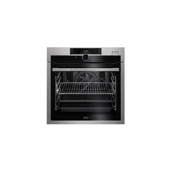 AEG BSE874320M SteamCrisp Quarter Steam And Pyrolytic Oven With Command Wheel Control And HD TFT Display Stainless Steel