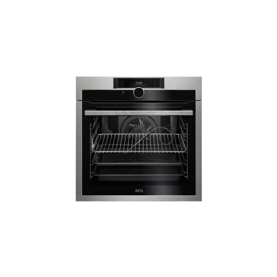 AEG BPE842720M SenseCook Pyrolytic Oven With Command Wheel Control And HD TFT Display Stainless Steel