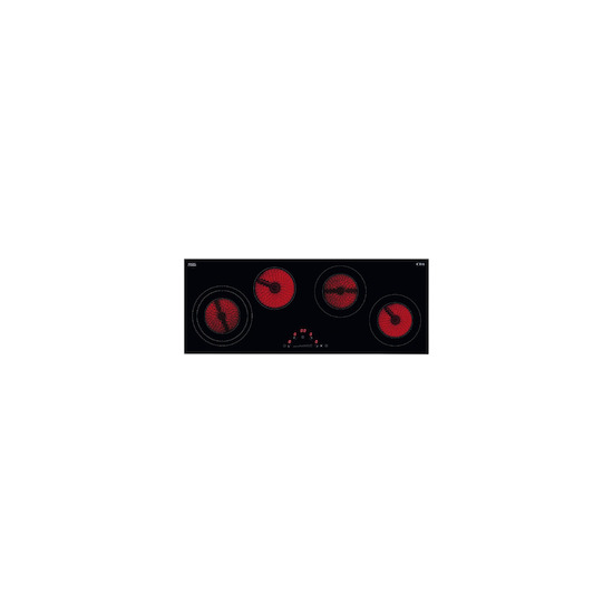CDA HC9626FR Black glass 4 zone ceramic hob