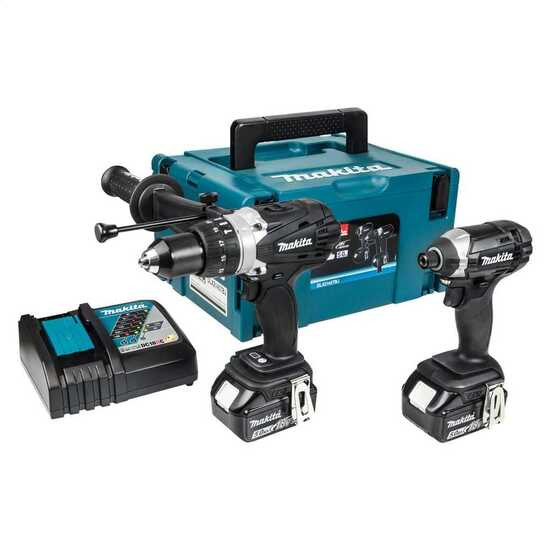 Makita 18V Combi Drill and Impact Driver with 2 x 5.0Ah Batteries