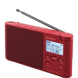 Sony XDR-S41DR Portable DAB+/FM Radio - Red Reviews