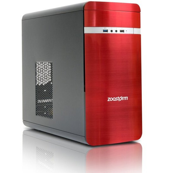 Zoostorm Evolve Desktop PC Intel Pentium G4560 3.5GHz 8GB RAM 1TB HDD DVDRW Intel HD Windows 10 Home - Red