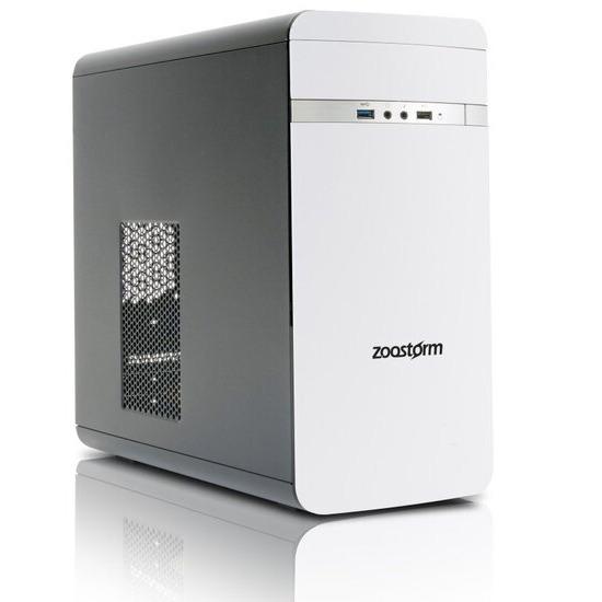 Zoostorm Evolve Desktop PC AMD A8 7650K 8GB RAM 2TB HDD DVDRW Intel HD WIFI Windows 10 Home - White