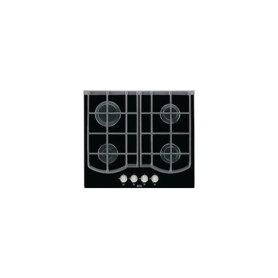 AEG HG653431NB Black glass 4 burner gas hob
