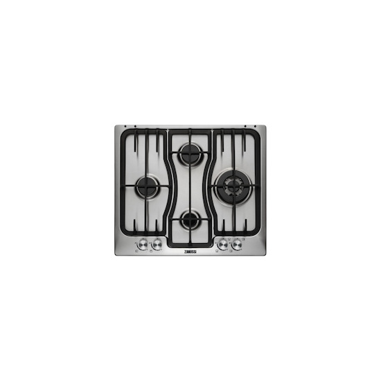 Zanussi ZGX66424XS Stainless steel 4 burner gas hob