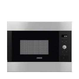 Zanussi ZBM26642XA Stainless steel Built in classic 600mm microwave oven Reviews