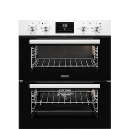 Zanussi ZOF35601WK Electric Built-under Double Oven - White Steel Reviews